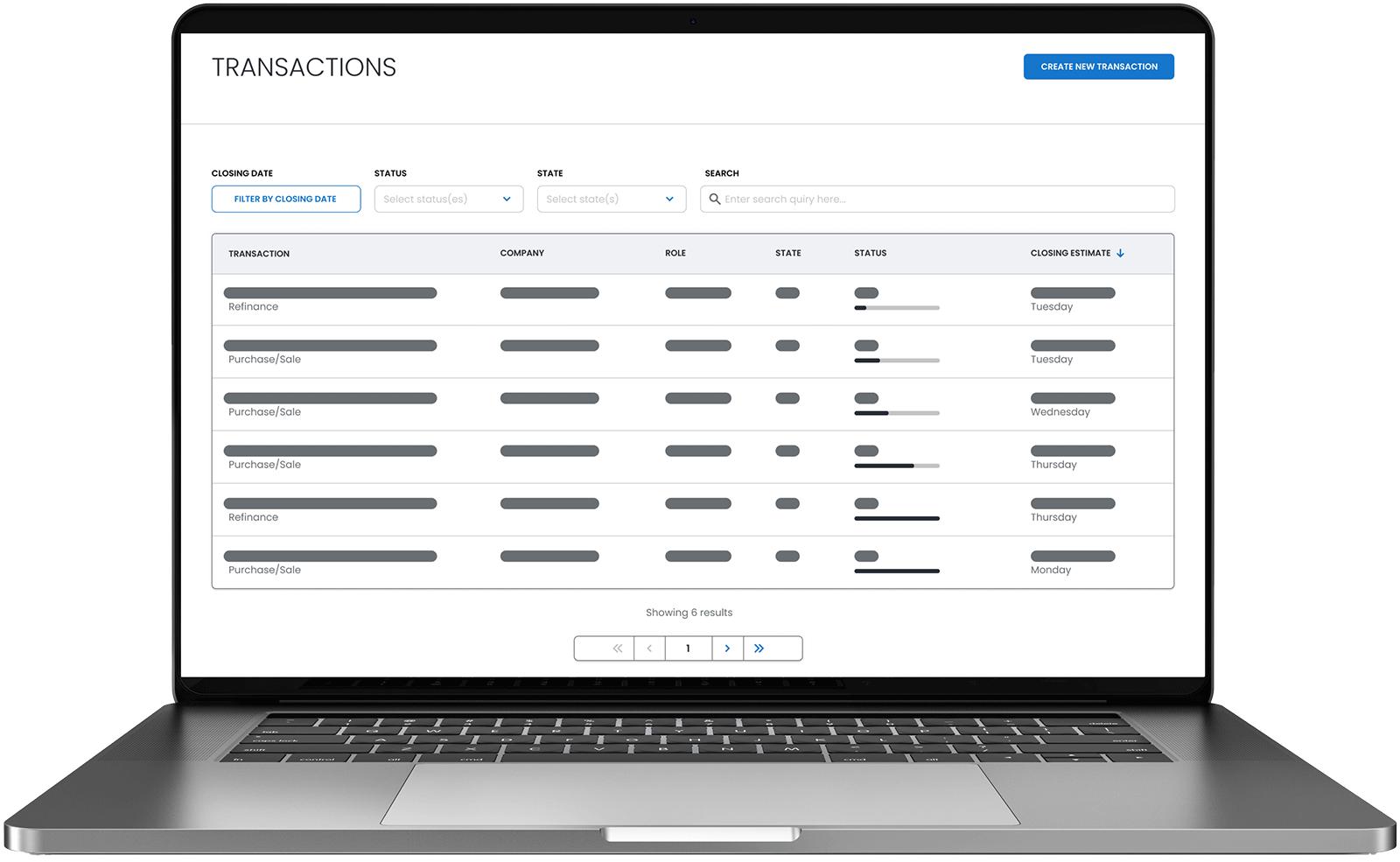 Example of Blueprint's Portal application